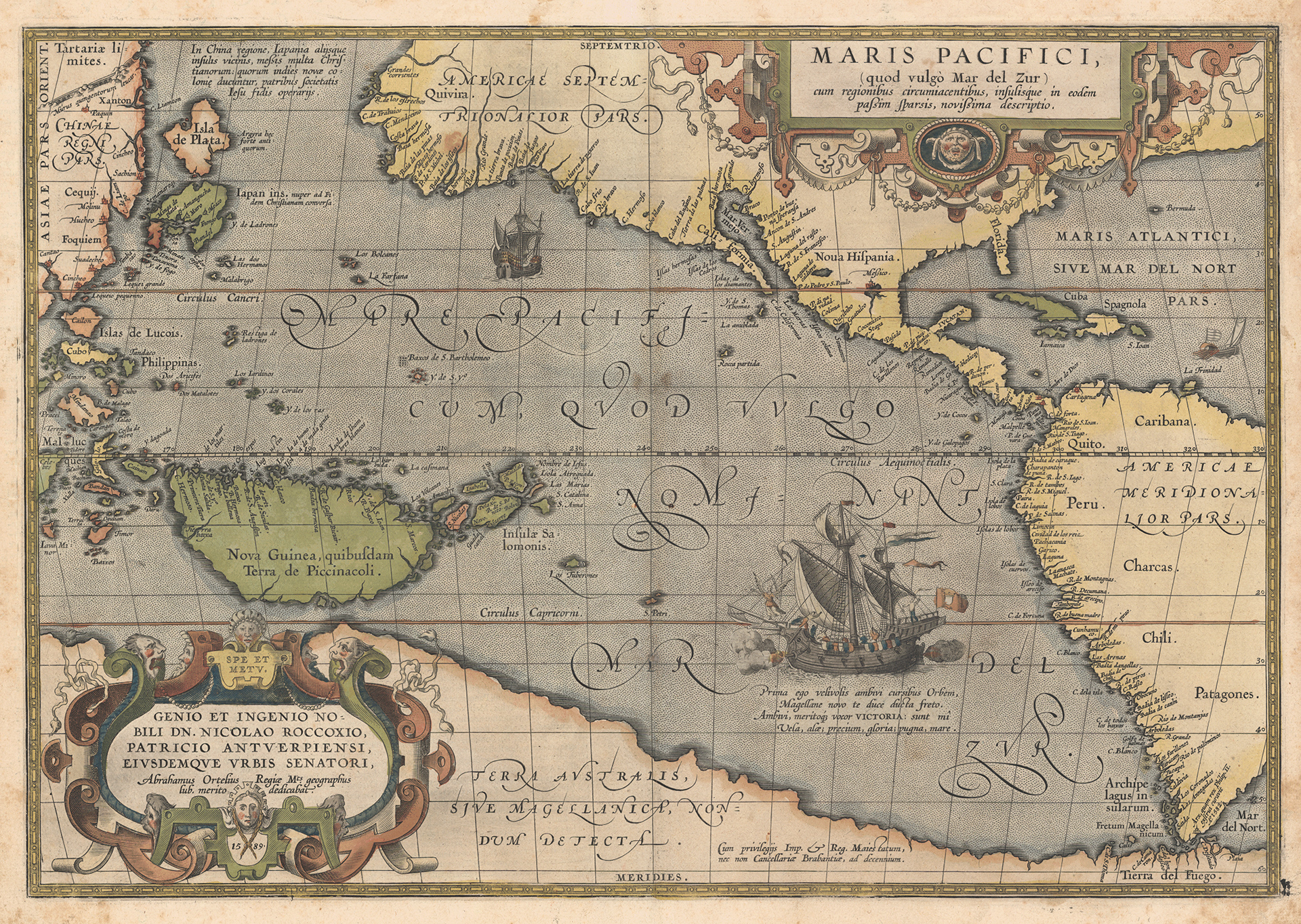 Карта Абрахама Ортелия, 1589г.