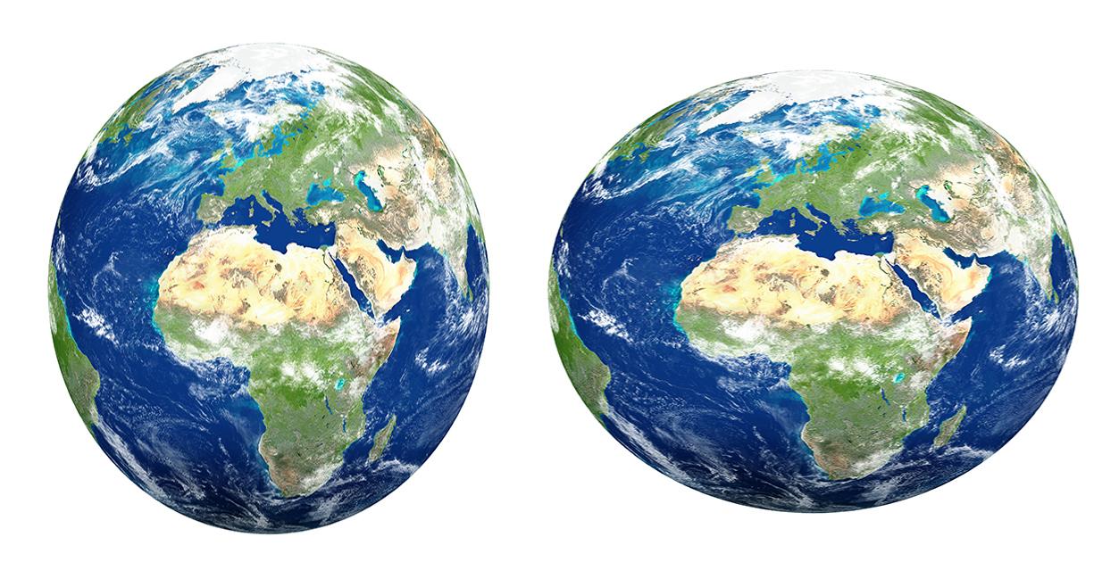 Жан Пикар считал Землю вытянутой, как яйцо, Исаак Ньютон— сплюснутой сполюсов