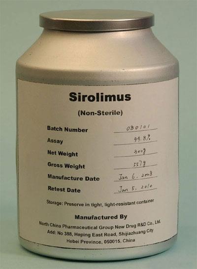Рапамицин. Появился нарынке под названием Сиролимус (Sirolimus). Изначально использовался как противогрибковый препарат. Последнее время онём говорят как олекарстве для продления жизни, но достоверных результатов, подтверждающих его геропротекторные свойства (по крайней мере, для людей) нет