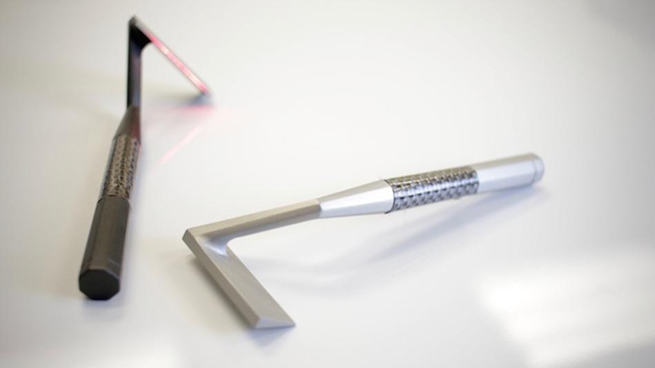 Прототип бритвы выполнен из алюминия.