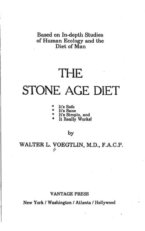 Титульный лист книги Вальтера Вёгтлина «Диета каменного века».