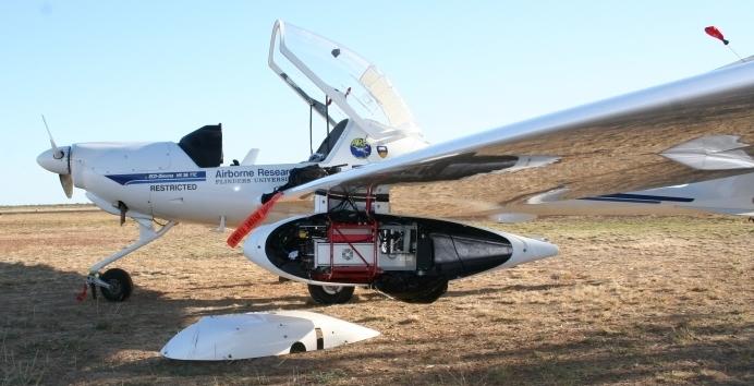 Самолёт, оснащённый лидаром