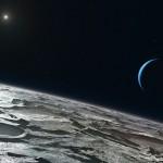Вид на Нептун с Тритона