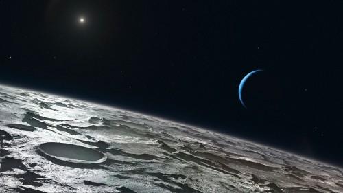 Вид наНептун сТритона