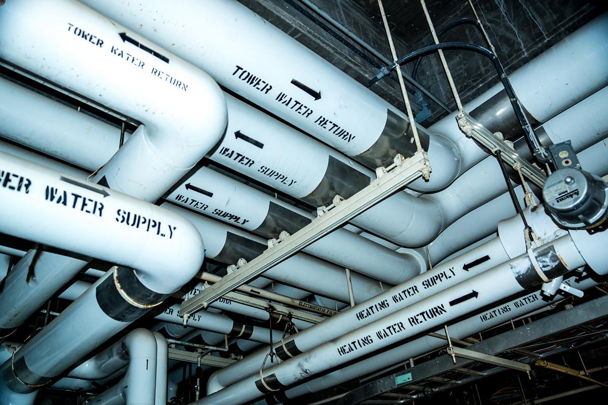 Трубопроводы систем подачи иотвода воды иохлаждения проекта «Биосфера 2»