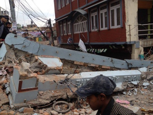 Разрушения после землетрясения вНепале.