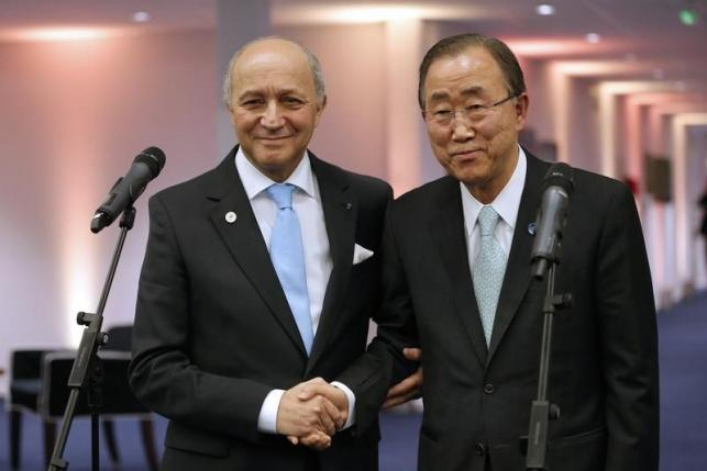Laurent Fabius,  Ban Ki-moon