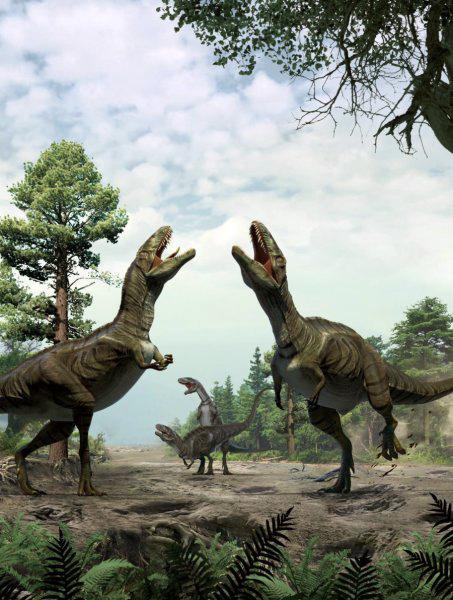 Брачные игры динозавров