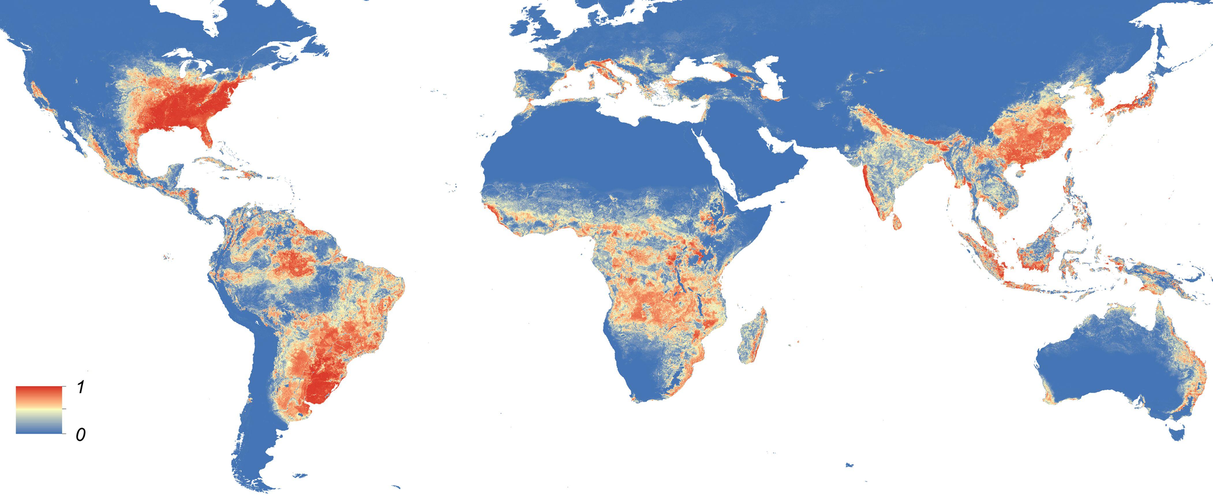 Территория возможного распространения комара Aedes albopictus