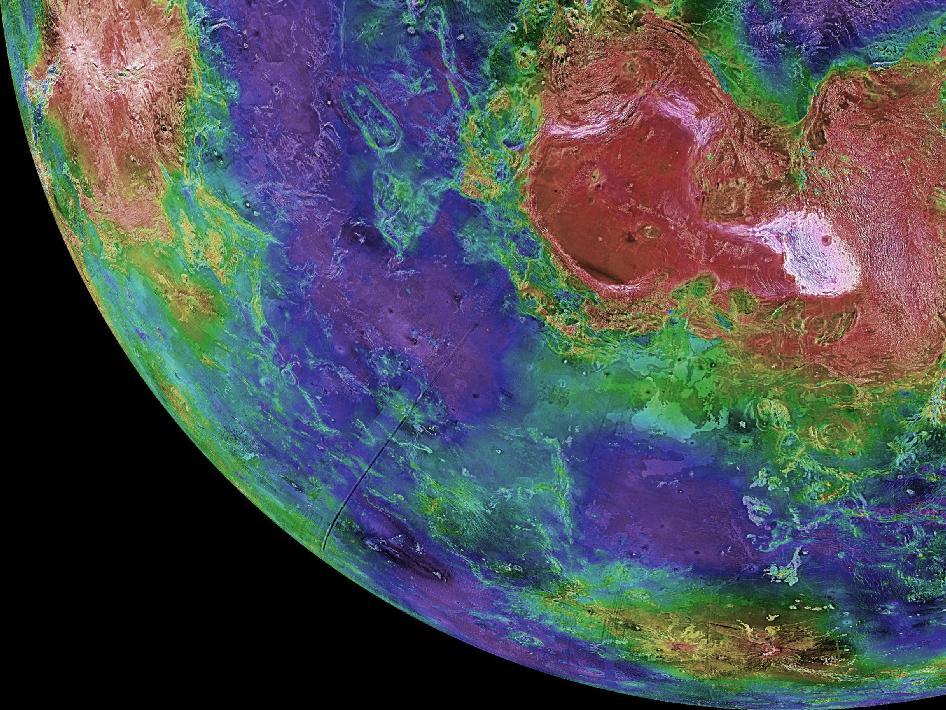 """Венера (фото <a rel=""""nofollow"""" href=""""http://internationalspacemission.blogspot.ru/2011/01/venus-rising.html"""">NASA</a>). Если наВенере или Марсе обнаружат жизнь, развившуюся независимо от земной, это опровергнет новую теорию, отмечают авторы  исследования."""
