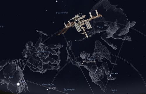 МКС переходит всозвездие Тельца.