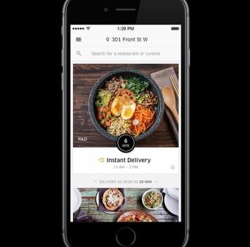 Uber запустил службу доставки еды
