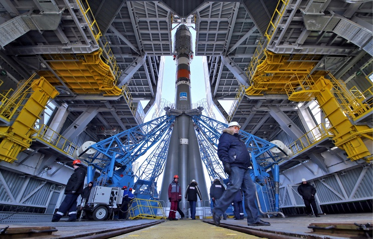 Ракета-носитель собрана иготова кдоставке кместу старта. Фото: Марина Лысцева/ТАСС