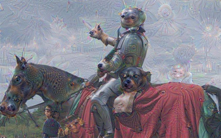 Изображение, созданное проектом Deep Dream компании Google, стало своеобразной визитной карточкой, собирательным образом, представляющим исследования искусственного интеллекта для широкой общественности