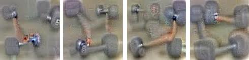 Изображение гантелей, дополненное фантомными конечностями, которое было сгенерировано спомощью нейронных сетей Google. Источник: Google