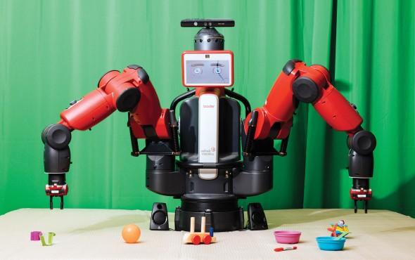 Каждый раз, когда Baxter определяет лучший способ взять иудержать предмет, он пересылает этот опыт другим роботам