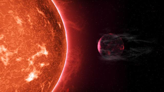 Экзопланета, теряющая атмосферу. Автор Peter Devine.