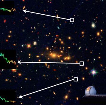 Гравитационное линзирование помогло астрономам увидеть далёкую тусклую галактику