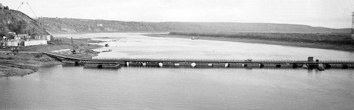 Понтонный мост через Томь вТомске, 1973