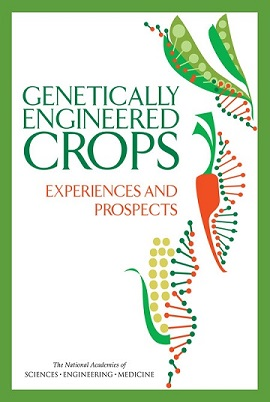 Обложка доклада американских академий наук, инженерии имедицины «ГМ культуры. Опыт иперспективы».