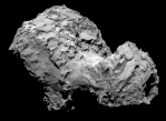 Комета Чурюмова — Герасименко. Фото сделано космическим аппаратом Розетта.