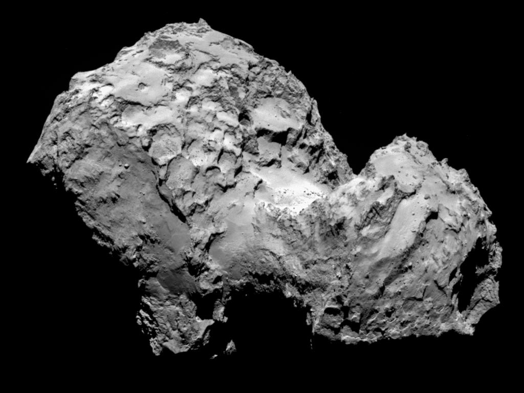 Комета Чурюмова— Герасименко. Фото сделано космическим аппаратом Розетта.