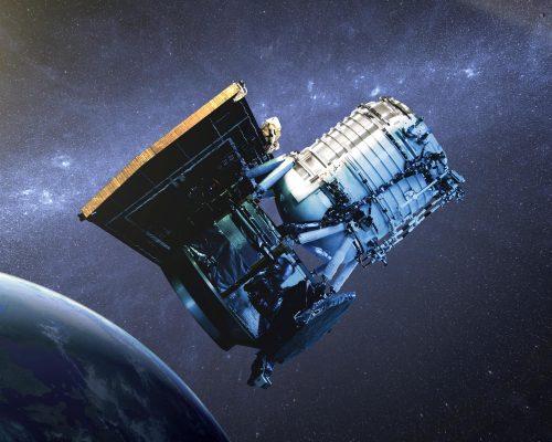 Инфракрасный космический телескоп Wide-field Infrared Survey Explorer (WISE), рисунок.