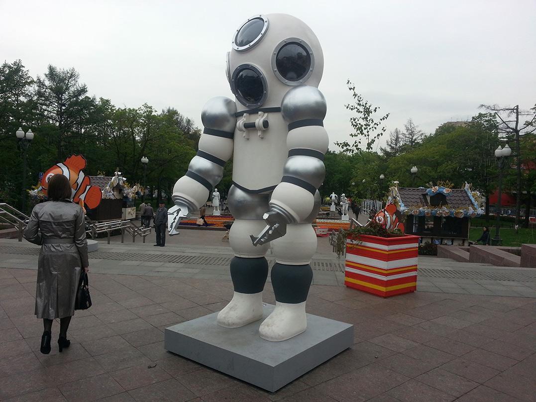 Временная скульптурная форма наТверском бульваре вМоскве