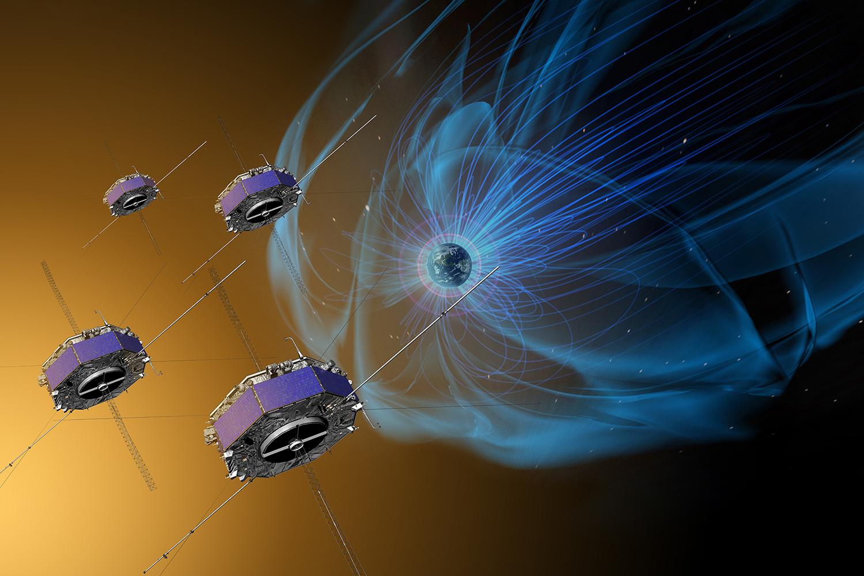 Спутники Многоуровневой миссии по изучению магнитосферы.