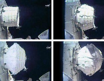 Астронавты НАСА со второй попытки смогли развернуть наМКС надувной модуль