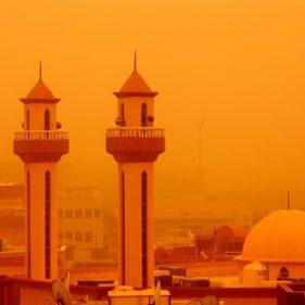Песчаная буря на Ближнем Востоке