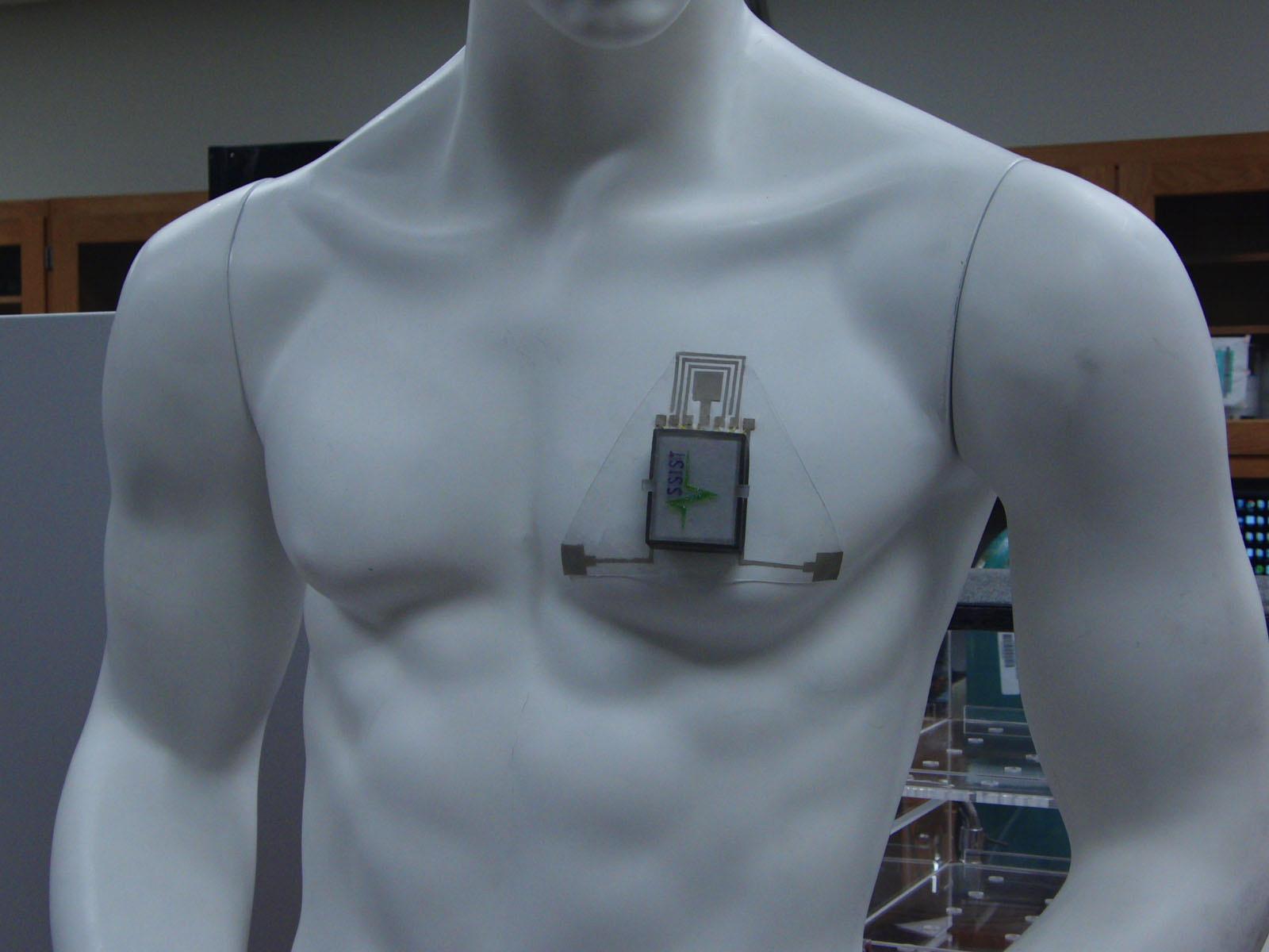 Прототип устройства для крепления нагрудную клетку. Автор фото— Джеймс Диффендерфер.