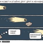 Астероид и комета. Комикс Тома Голда