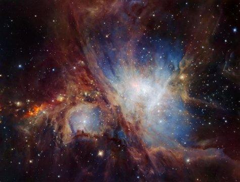 Красивая туманность Ориона скрывает всебе множество объектов