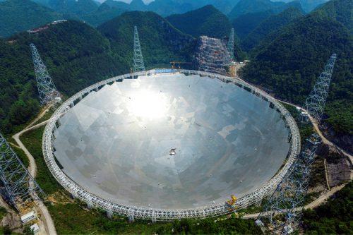 Наблюдения через радиотелескоп FAST должны начаться всентябре 2016 года