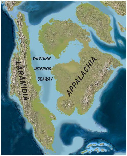 Островной континент Ларамидия— место обитания тираннозавра