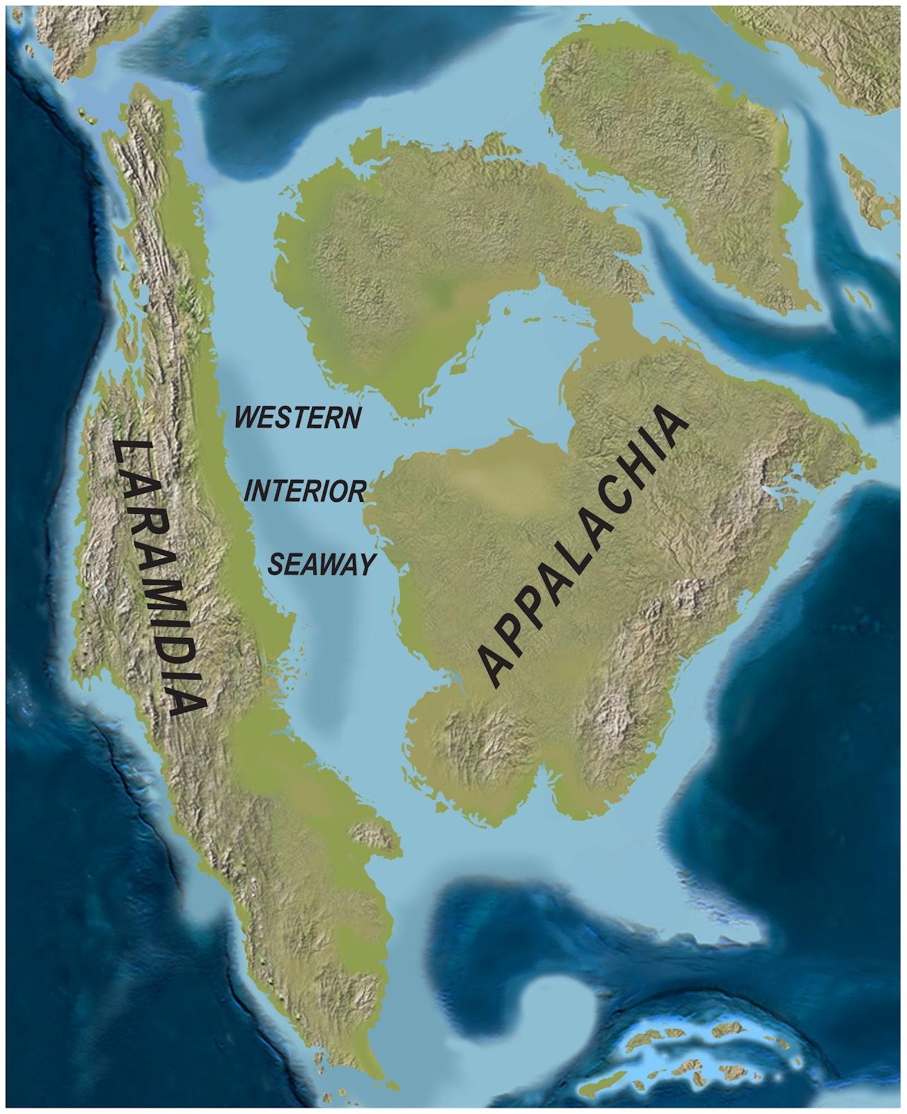 Островной контитент Ларамидия— место обитания тираннозавра