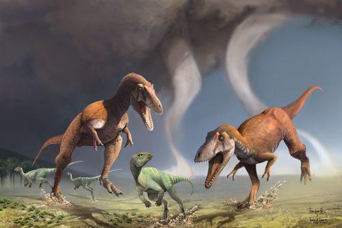 Возможно, что при мощном черепе иогромных зубах хищным динозаврам ненужны были большие верхние конечности