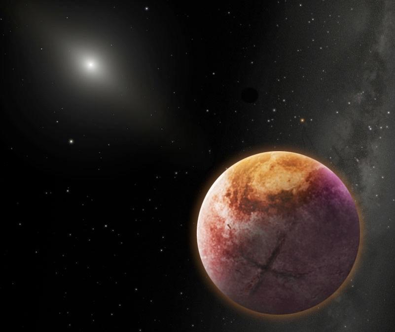 Пока девятую планету мы видим только накартинках. Изображение: Robin Dienel.