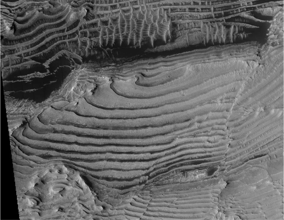 Изображение региона Земля Аравия (Arabia Terra), полученное камерой HiRISE сборта спутника MRO.