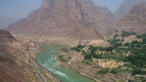Ущелье Цзиши вверховье реки Хуанхэ.