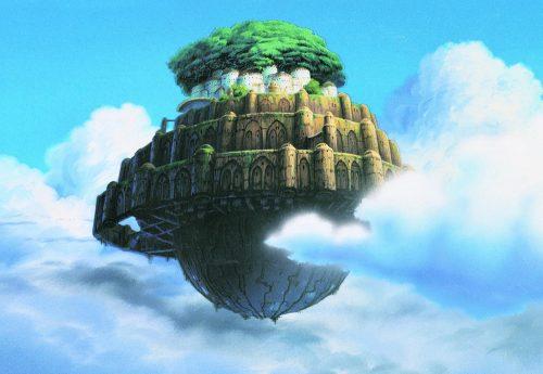 Небесный замок Лапута из одноимённого мультфильма Хаяо Миядзаки
