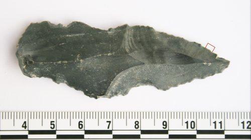 Орудие  каменного века, извлечённое во время раскопок ввосточной пустыне Иордании.