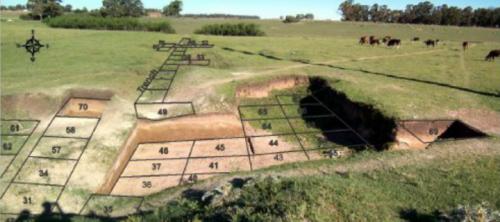 Схема раскопа Арройо Секо 2