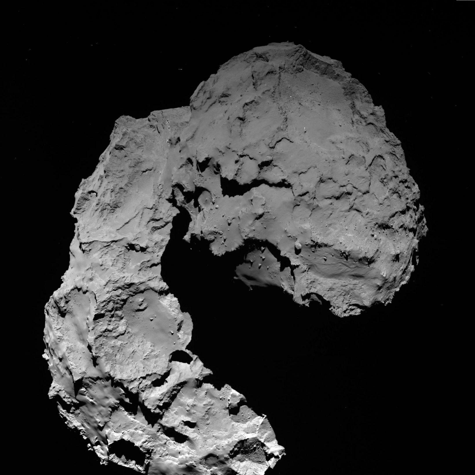 Фото кометы, сделанное «Розеттой» за день до окончания миссии.