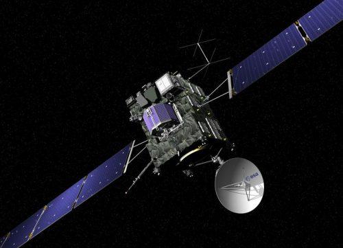 Зонд «Розетта». Изображение Европейского космического агентства