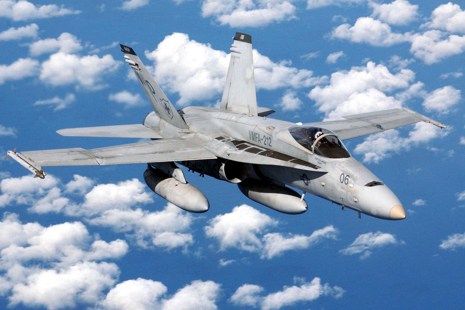 Макдоннелл-Дуглас F/A-18 (англ. McDonnell Douglas F/A-18 Hornet (рус. шершень, произносится «Хорнет»)— американский палубный истребитель-бомбардировщик иштурмовик, разработанный в1970-х годах. Насегодня является основным боевым самолётом ВМС США. Будет заменён самолётами F/A-XX в2030—2040-е годы.