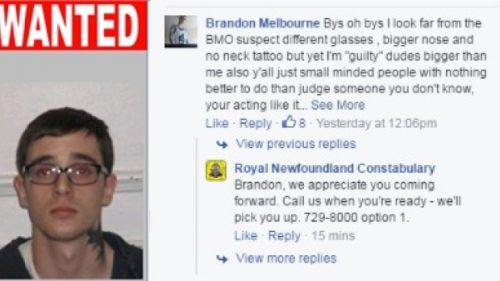 Полиция просит Брендона позвонить им, когда он будет готов