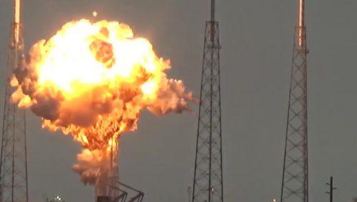 Взрыв во время предстартовой проверки ракеты Falcon 9.