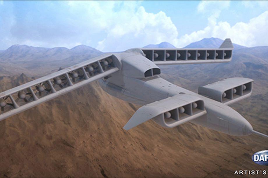 Концепт летательного аппарата VTOL.